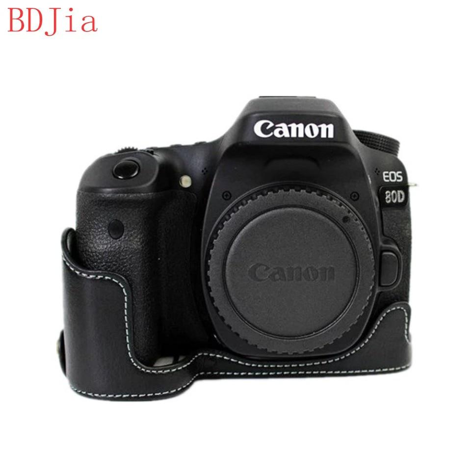 Nueva Funda Protectora de cuero caso bolsa para cámara Canon EOS 7D 6D