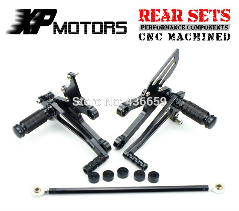 Adjustable CNC Racing Rearset FootPeg Rear Sets For Honda NSR250R MC21 PGM3 1990 1991 1992 1993 Black