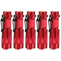 5 sztuk 2000 Lumenów Latarka Latarka Zoomable Latarka LED Moc Baterii Do Wypoczynku Na Świeżym Powietrzu
