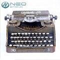 Neo typer máquina de escribir de la vendimia hecha a mano la artesanía de metal retro antigua máquina de la marca modelo prop regalo estatuilla decoración del ornamento