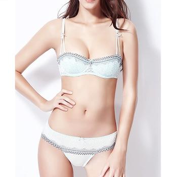 Ladies Secret Adjusted-straps Mesh lace bra plus size brief sets bralette women brassiere sexy panties sets  A B C D 70 75 80 85 sexy panti