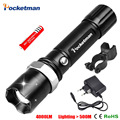 FT17 3800Lumens Led Flashlight CREE-xml T6 Led 18650 Waterproof Flashlight Strong Light Self Defense Tactical Torch Lantern