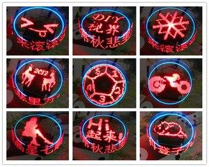Image 3 - Вращающийся светодиодный набор «сделай сам», набор для пайки POV, улучшенная версия