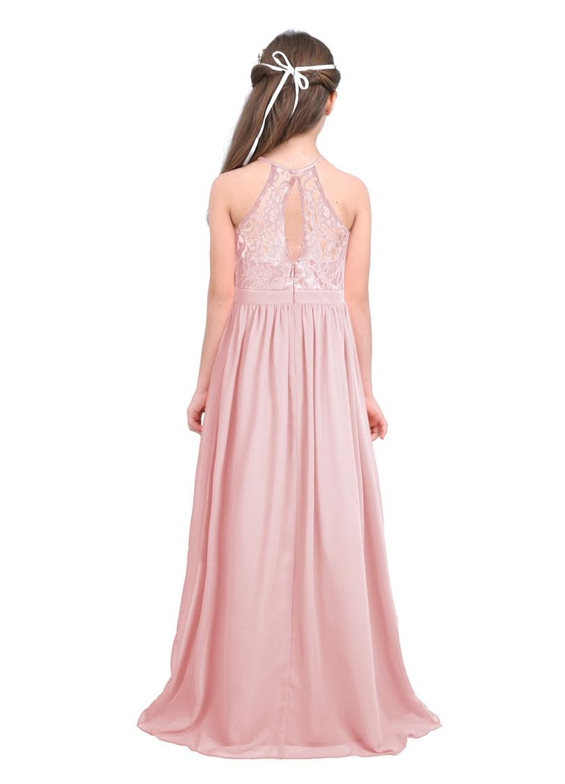 Image 3 - Детские розовые платья с цветами и жемчугом для маленьких девочек, платье для первого причастия, платье для свадьбы, подружки невесты, на день рожденияПлатья   -