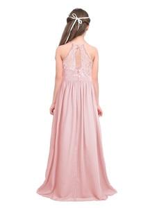 Image 3 - Детские розовые платья с цветами и жемчужинами для маленьких девочек платье для первого причастия, свадебные вечерние платья подружки невесты и дня рождения