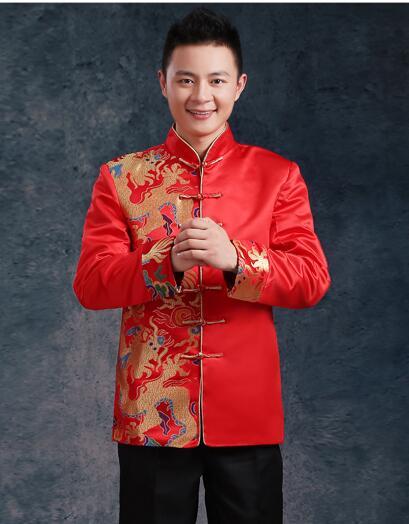 Kineska tradicionalna odjeća vjenčanje rude vezenje nevjesta - Nacionalna odjeća - Foto 2