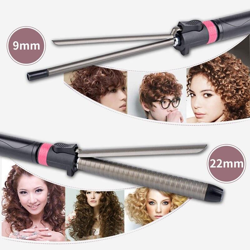 Hair Styling Ferramenta modelador de cabelo ajuste de temperatura Clipe