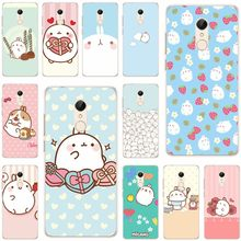 Molang rabbits Cutest Cover Soft Silicone TPU Phone Case For xiaomi 4 5 6 6X 8 note3 miX2S for redmi4A 4X 5 5a 5Plus note4 4X 5(China)