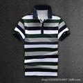 Men Polo Shirt 2016 Man New High Quality Short Sleeve Cotton Shirt Polo Business Casual Striped Shirts D1604