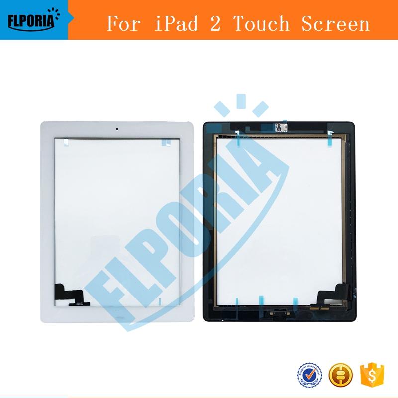 For iPad 2 Digitizer Touch Screen Display Glass Assembly Includes Home Button and flex Camera Holder+frame + A1395 A1396 A1397 19 inch infrared multi touch screen overlay kit 2 points 19 ir touch frame