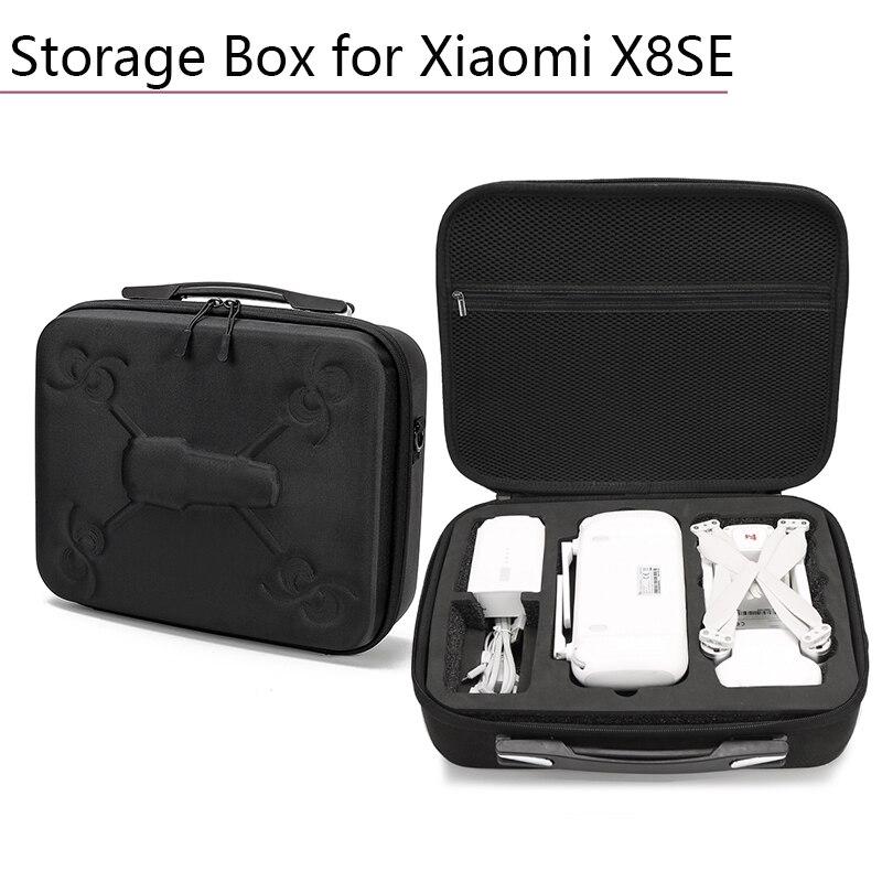 Valise noire Portable étanche sac de rangement boîte de transport valise avec dispositif de fermeture éclair Drone accessoires pour Xiaomi X8SE