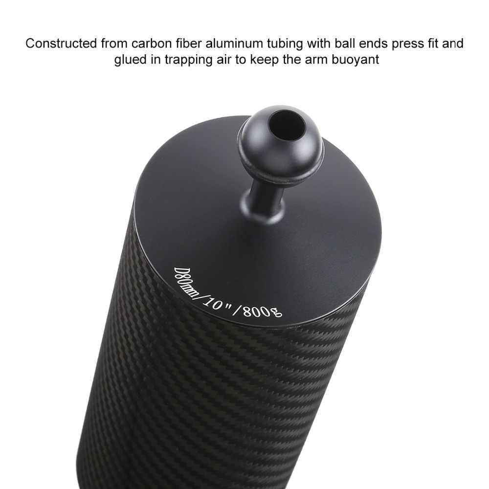 PULUZ ألياف الكربون تعويم الطفو المائية الذراع المزدوج الكرة العائمة الذراع الغوص كاميرا تحت الماء الغوص صينية ل Gopro/الهواتف الذكية