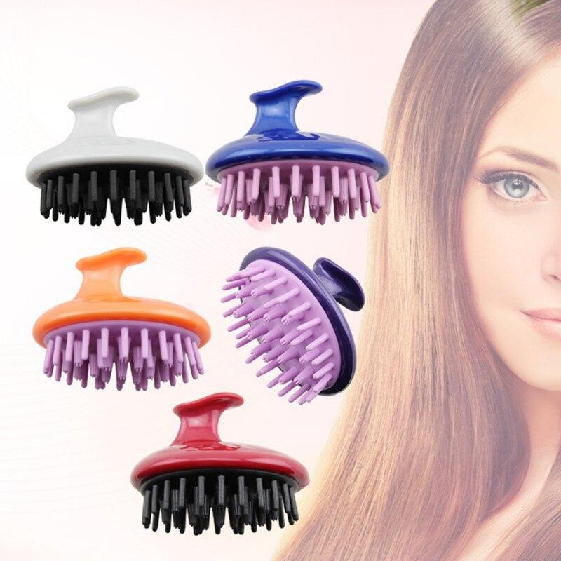 1pc Silicone Head Body Massager Brush Comb Shampoo Scalp Massage Brush Hair Washing Shower Brush Bath Spa Massage Brush