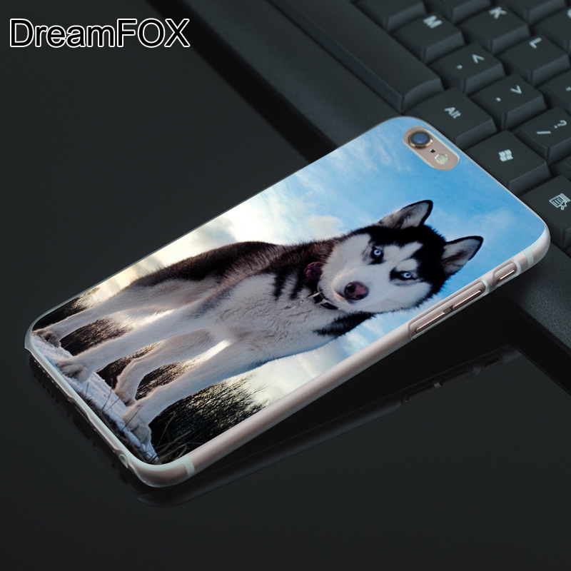 DREAM FOX K198 Sled Dogs Transparent Hard Thin Case Cover For Apple iPhone 8 X 7 6 6S Plus 5 5S SE 5C 4 4S