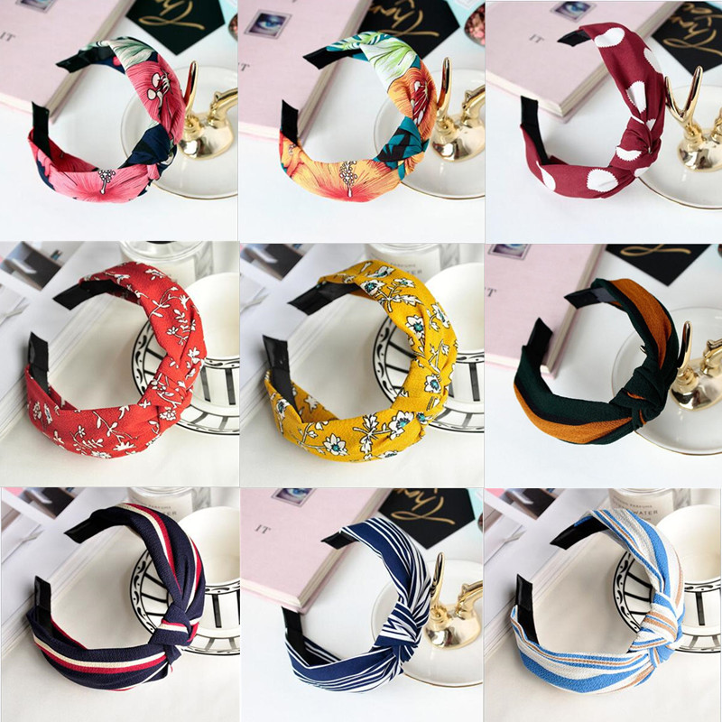 korean fashion knot hairband women girls hair head hoop band headband accessories for women scrunchy headdress headwear hairband