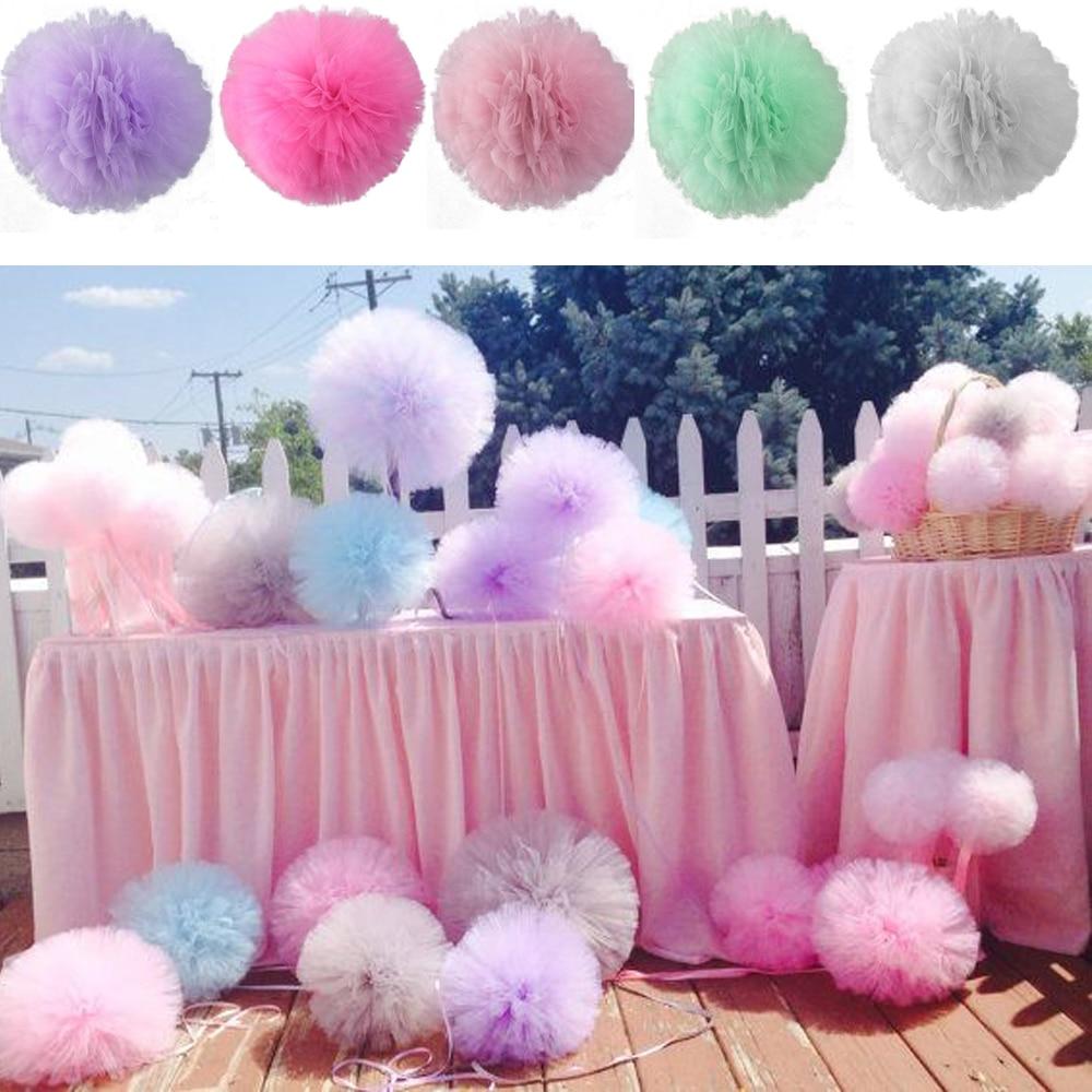 DIY 8 Tulle Pom Poms Balls For Wedding Party Bridal