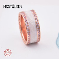 FirstQueen New Arrival Hearts of Brand Enamel Ring anillos de plata 925 Rings For Women anillos Fine Jewelry
