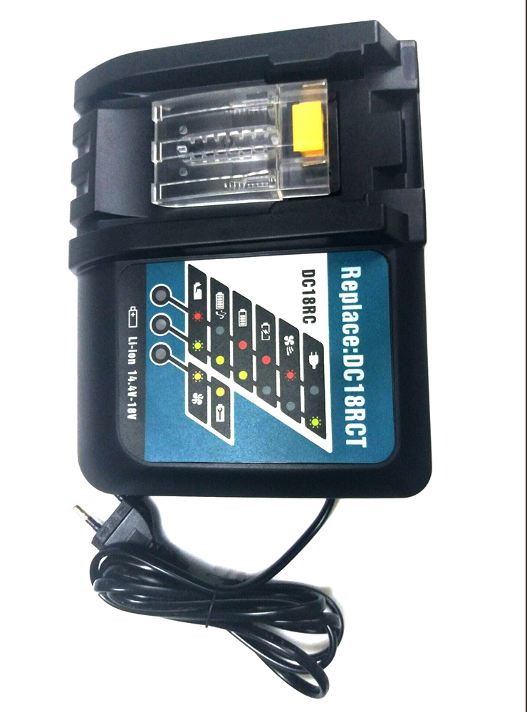 Charger for Makita,Li-ion battery,BL1830,BL1430,DC18RC, DC18RA,DC18RCT,100-240V,50/60HZ power tool rechargeable battery charger for makita dc18rc li ion battery rapid 9a charger bl1415 bl1430 bl1815 bl1830