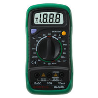 MasTech MAS830L Mini Handheld LCD Display Multimeter DC Current Tester Backlight Data Hold Continuity Diode HFE