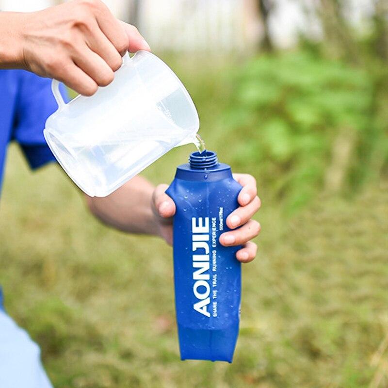 Foldable Soft Flask TPU Outdoor Running Water Sport Bottle 170ml/250ml/500ml