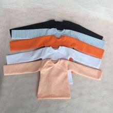 1/4 Doll Clothes White/pink/orange/black/blue stripe Long T-shirt Cute Base Shirt For Blyth BJD 1/4 Dolls Accessories [wamami] 06 black fishnet t shirt outfit 1 4 msd dz bjd dollfie