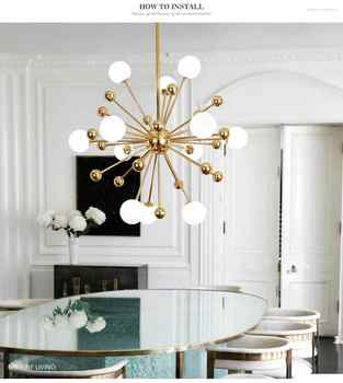 Glass Led Lamp Modern Design Chandelier Ceiling Living Room Bedroom Dining Room Light Fixtures Decor Home Lighting G4 12 Lights - DISCOUNT ITEM  21% OFF All Category
