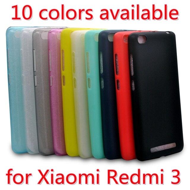 Xiaomi redmi 3 case cover Silicone case for xiaomi redmi 3 Crystal and solid colors Soft materials