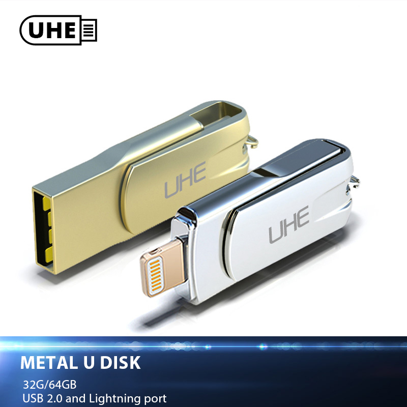 UHE New Flashdrive 32GB 64GB Micro Usb Pen Drive Lightning/Otg Usb Flash Drive For iPhone 5/6/7/7 Plus/ipad ipod Memory Stick usb flash drive 32gb photofast i flashdrive memorycable