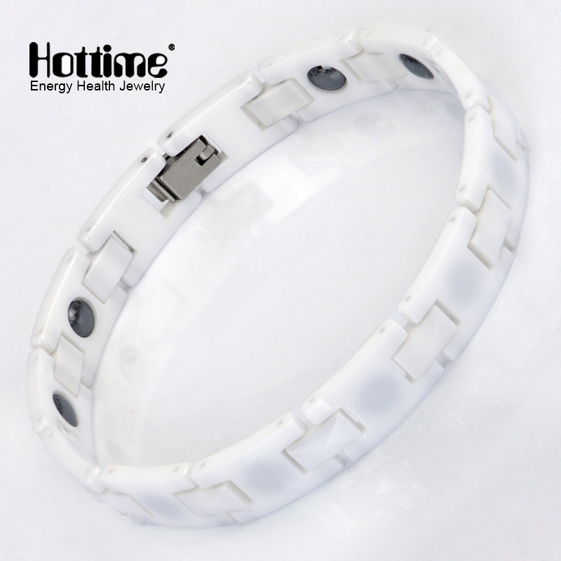 New Fashion Bio Elements Energy Magnetic White Ceramic Bracelets Hot Selling Lover Jewelry Super Deal Free