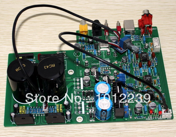 free shipping Assembled DAC 1955 decoder + LM3886 amplifier board (fiber coaxial USB decoding) hot sale dac board optical fiber coaxial usb dac decoding amp board