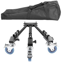 Neewer Photography Professional Universal Folding Camera Tripod Dolly Base Stand With Rubber Wheels For Canon Nikon