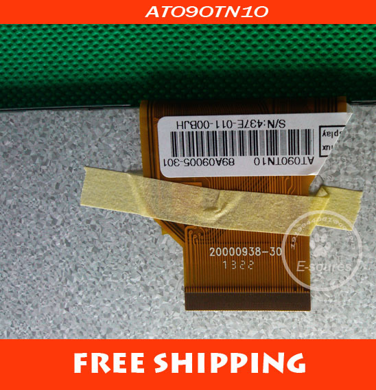 5PCS/LOT Free shipping Original new 9 LCD screen LCD panel LCD display for Sanei N91 Tablet PC 20000938-30 AT090TN10 50PIN original 6 5 inch for pcm2 car lcd screen display panel ems dhl free shipping