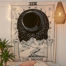 Mandala Tapestry Wall Hanging Witchcraft Hippie Beach Throw Rug Moon Travel Boho Bohemian Home Art Psychedelic Tapestries Decor(China)