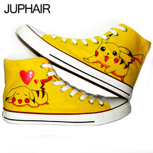 JUP plates Despicable Me Minion Rabbit  Panda Butterfly With Velvet Thick Warm Hand Painted Canvas Shoes for Men Males Kids Girl