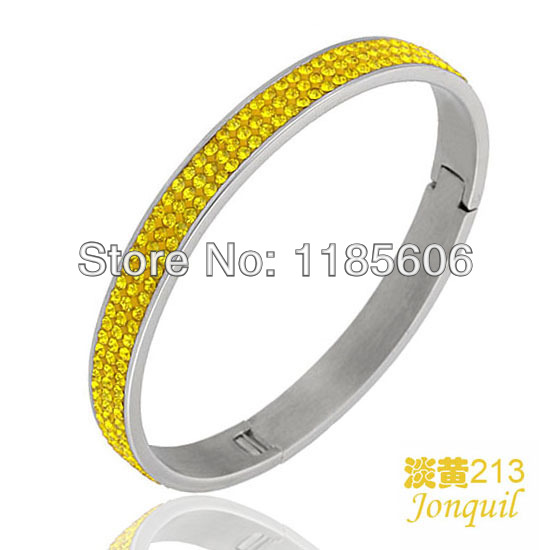 2014 fashion stainless steel bangles & bracelets women AAA Crystal charm Jewelry - CRYSTAL BEADS store