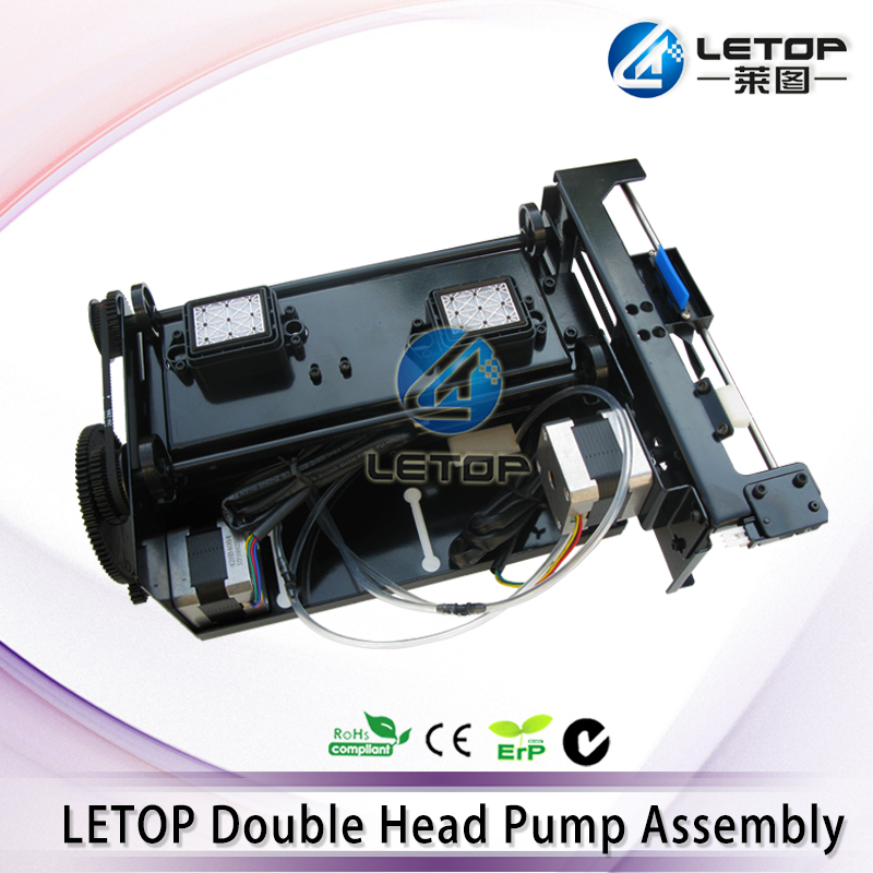 LETOP DX5 Double head Cleaning Station Assembly for DX5 DX7 printhead Xuli Allwin Zhongye Infinity Human cap top Assembly f186000 for dx5 printhead cover eco solvent plotter for mimaki allwin human xuli zhongye galaxy dx5 head adapter manifold