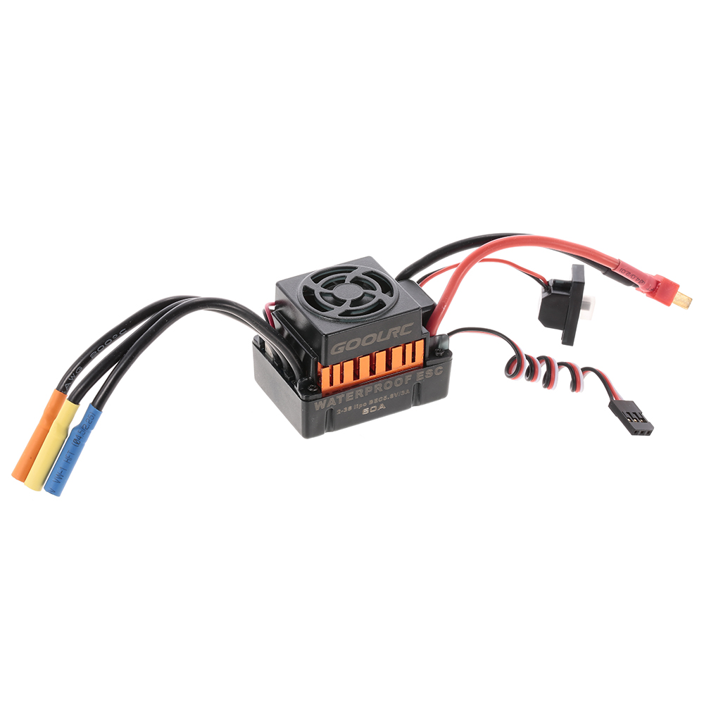 GoolRC Brushless Motor ESC BL3670 1900KV 2-3S 60A Waterproof for 1/10 RC Car Off-road Truck HSP TRAXXAS Vehicle rc car hsp unlimited 1 10 off road vehicle shell 94107pro original car body 10749 no