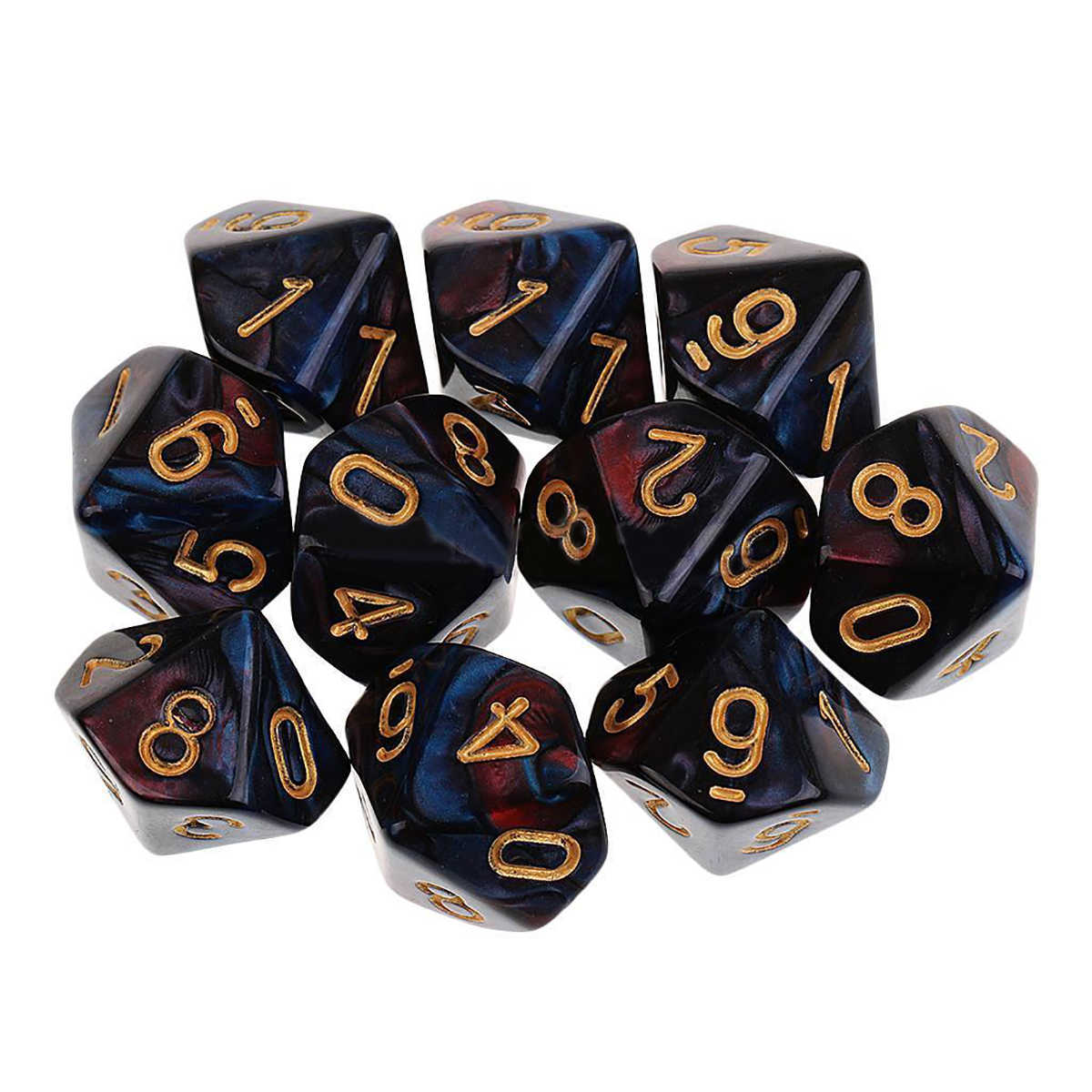NIEUWE Acryl 10PCS D10 Zijdig Dices Set Polyhedrale Sterven Voor Dungeons And Dragons Tafel Games Playing Game