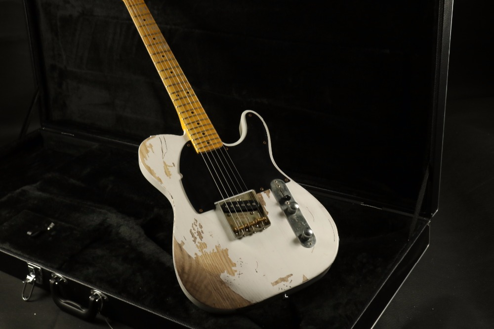 aged hardware relic heritage collector white tele electric guitar guitrra chrome hardware s pickup heirloom family collection