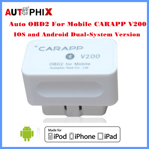 AUTOPHIX Auto Code Reader OBD2 For Moblie CARAPP V200 Work With IOS/Android Dual-System vermeiren v200