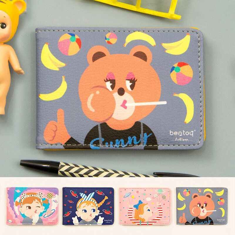Cute Angel Sunny Bear Banana Cartoon Girl Card Bags ID Holders Female Credit Card High quality Beautiful Thin Light Bag Bentoy