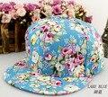 2016 do verão da mulher cap hop Snapbacks boné de beisebol retro prato de flor ao ar livre chapéu de sol menina