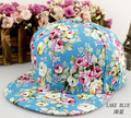 2016 summer woman cap hip-hop baseball cap retro flower plate Snapbacks outdoor sun hat girl