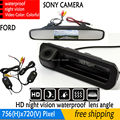 handle Trunk  4.3 Inch Car Rear View Mirror Monitor Parking Monitor+ Special Car Reverse Camera SONY For Ford Focus Mondeo Kuga