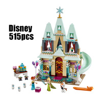 LELE 79277 515pcs blocks Arendelle Castle Celebration Model building blocks toys for children Compatible Legoness Friends 41068