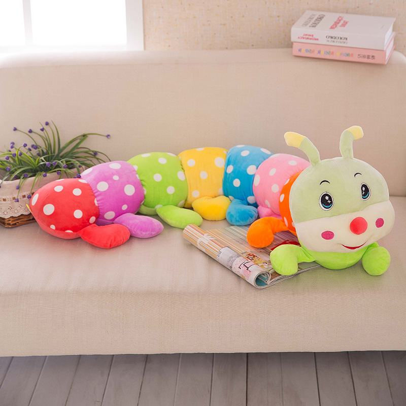 Cute Soft Cartoon Plush Doll Colorful Caterpillar Toys Baby Sleeping Pillow Gift for Kids Children 23.6in