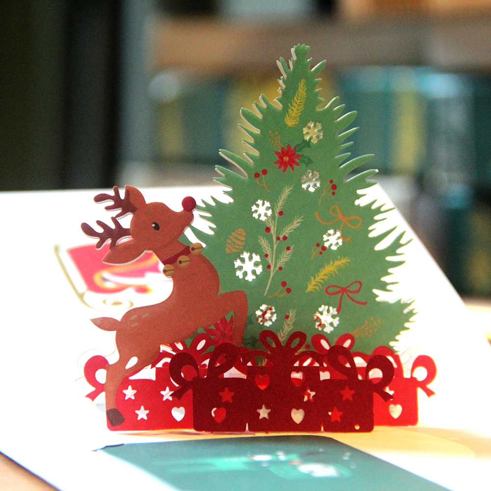 3d pop up cards merry christmas origami paper laser cut for 3d christmas cards to make at home