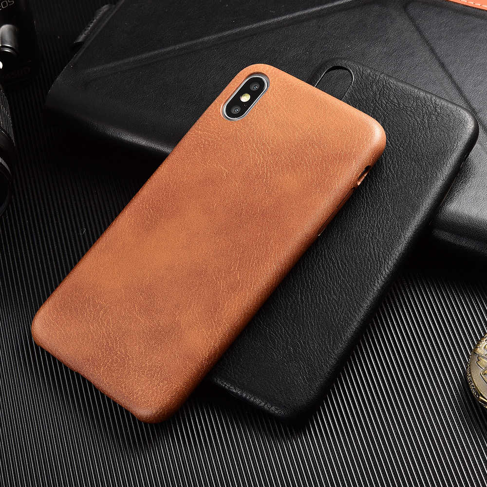 PU Leather Phone Case for iPhone 6 6S Plus 7 8 Plus Shockproof Bumper Phone Case for iPhone X XS Max XR XS Prime Coque