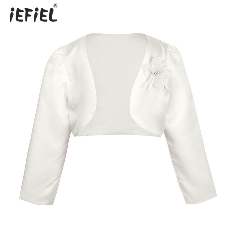 iEFiEL Kids Girls Ballet Dress Long Sleeves Knitted Sweater Shrug Cardigan Gymnastic Dance Top Cover up