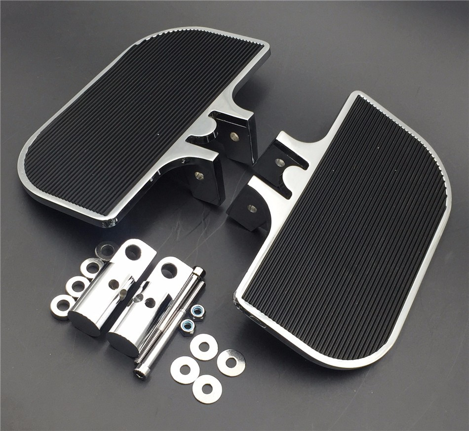 Aftermarket free shipping motorcycle parts Chrome Passenger Mini Floorboards Rear Footboards FootPegsFit Harley-Davidson Electra Мотоцикл